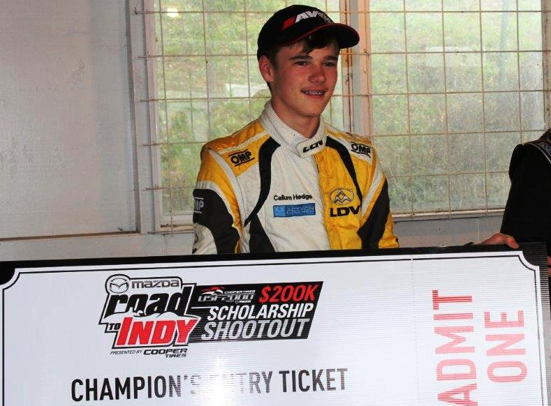 Callum Hedge MRTI Big Ticket 2018-2