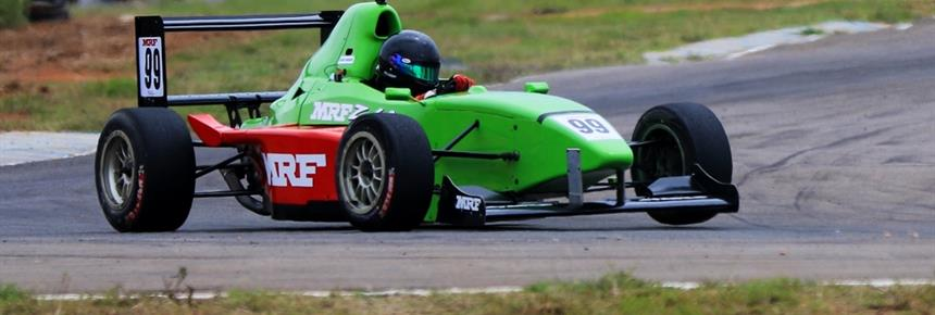 Raghul Rangasamy, quickest in MRF F1600 category (June 22) (1200x433)